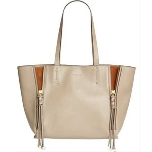 Chloé Milo Motty Grey Leather Tote